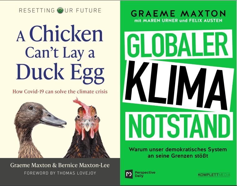Two latest books by Graeme Maxton